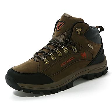 Муж. обувь Дерматин Весна Осень Удобная обувь Для пешеходного туризма Шнуровка для на открытом воздухе Хаки Темно-зеленый