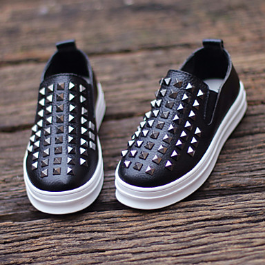 Παπούτσια για το μωρό - Μοκασίνια - Γάμος / Ύπαιθρος / Καθημερινά - Δέρμα - Μαύρο / Άσπρο