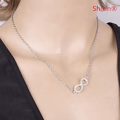 Damen Anhängerketten - Diamantimitate Unendlichkeit Luxus, Europäisch, Simple Style Silber, Golden Unendlichkeit Modische Halsketten Schmuck Für Alltag, Normal