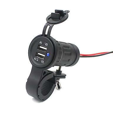 Dual USB soquete adaptador de carregador tomada 12v 24v levou motocicleta carro marinho