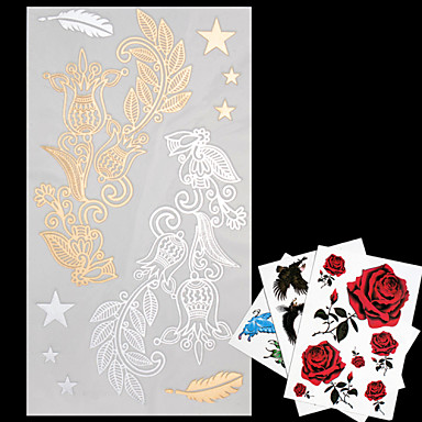 4 Pattern Lower Back Waterproof Jewelry Series Tattoo Stickers