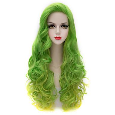 Sentetik Peruklar Kinky Curly Bantlı Sentetik Saç Peruk Kadın's Uzun Bonesiz
