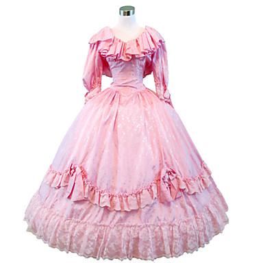 Gótikus Lolita Steampunk® Viktorijanski Csipke Szatén Női Ruhák Cosplay Költő Hosszú ujj Hosszú hossz