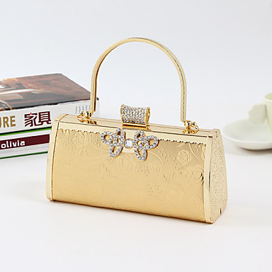 Women Bags All Seasons Other Leather Type Tote Clutch Evening Bag with for Wedding Event/Party Formal Office & Career Gold