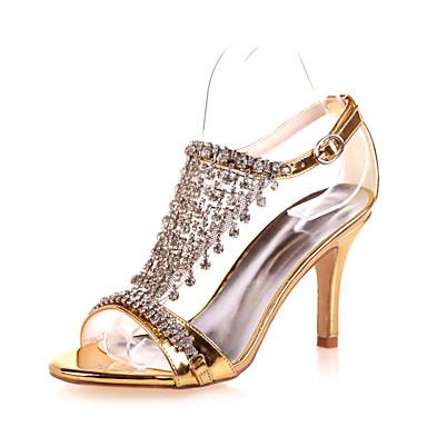 Mujer Zapatos Semicuero Primavera / Verano Tacón Stiletto Plata / Dorado / Boda F1WD2XVkT