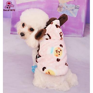 Kot Pies Kostiumy Płaszcze Bluzy z kapturem Stroje Ubrania dla psów Cosplay Ślub Halloween Kreskówka Motyw zwierzęcy Niebieski Różowy