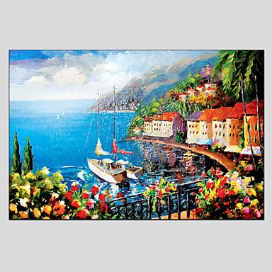 Peint à la main Paysage Format Horizontal, Moderne Style européen Toile Peinture à l'huile Hang-peint Décoration d'intérieur Un Panneau