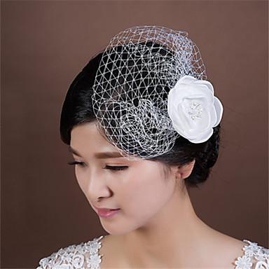 Femme Jeune bouquetière Imitation de perle Filet Casque-Mariage Occasion spéciale Fleurs 1 Pièce