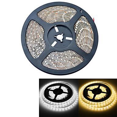 5m Flexible LED-Leuchtstreifen 300 LEDs Warmes Weiß / Weiß Wasserfest 12V