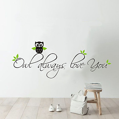Dekoratif Duvar Çıkartmaları - Kelimeler ve Alıntılar Duvar Çıkartmaları Hayvanlar / Romantizm / Moda Oturma Odası / Yatakodası / Çalışma