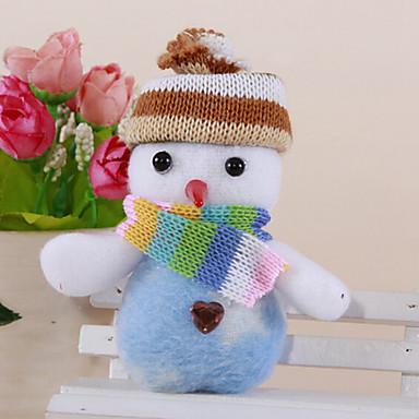 2db karácsonyi aranyos hóember medál véletlenszerű szín