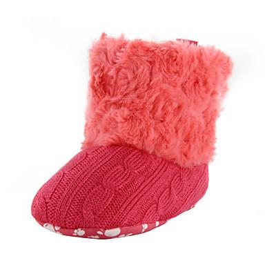 Dla dziewczynek Dla chłopców Buty Materiał Trykot Zima Buty do nauki chodzenia Comfort Buciki Kozaczki / kozaki do kostki Tasiemka na