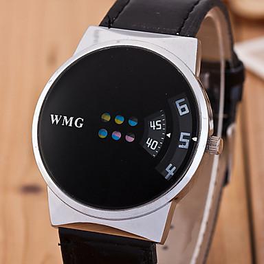 Men's Quartz Wrist Watch PU Band Charm