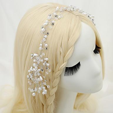 Γυναικείο Κορίτσι Λουλουδιών Στρας Κρυστάλλινο Κράμα Απομίμηση Μαργαριτάρι Headpiece-Γάμος Ειδική Περίσταση Κεφαλόδεσμοι 1 Τεμάχιο