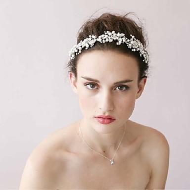 la nouvelle mariée haut de gamme pneumatique manuelle cerceau cheveux de cristal en argent pur diamant