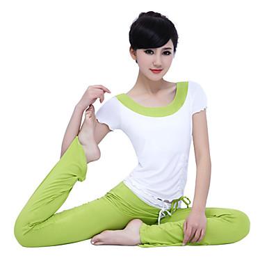 Joga Zestawy odzieży Lekkie materiały Rozciągliwe Sportowe ubranie Damskie Joga Pilates Fitness Sport i rekreacja Bieganie