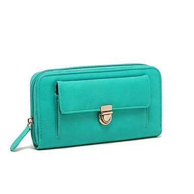 Women Men Bags PU Wallet for Shopping Casual Formal Fall All Seasons Screen Color
