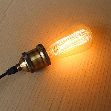 abordables Ampoules électriques-1pc 40 W 300 lm E26 / E27 ST58 1 Perles LED Décorative Blanc Chaud 220-240 V