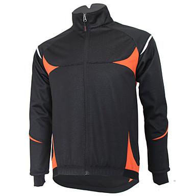 GETMOVING Cycling Jersey Men's Women's Unisex Bike Winter Fleece Jacket Jersey Top Winter Fleece Bike Wear Waterproof Thermal / Warm