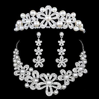 Euroopassa ja Yhdysvalloissa mekko tarvikkeet han painos helmi timantti päähine kolmiosainen häät asu