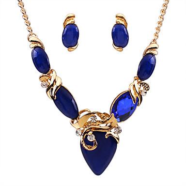 בגדי ריקוד נשים סט תכשיטים - אבן יקרה, זירקון, יהלום מדומה פאר, אופנתי לִכלוֹל שחור / בז' / כחול עבור יומי / קזו'אל