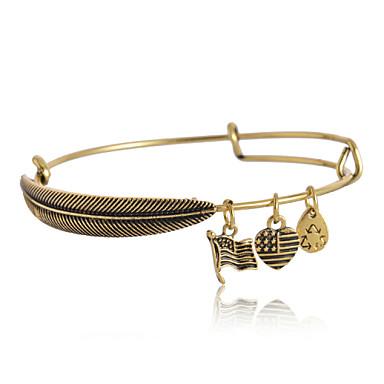 Homens Mulheres Pulseiras com Pendentes Bracelete - Prata Dourado Pulseiras Para Presentes de Natal Diário Casual