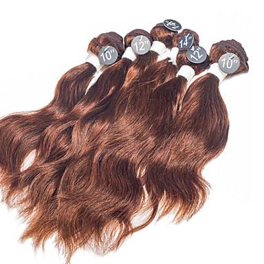 baratos Extensões de Cabelo Natural-Cabelo Brasileiro Ondulado Natural 8A Cabelo Humano Ondulado Tramas de cabelo humano Extensões de cabelo humano