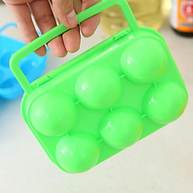pp tojás barázda szabadtéri piknik hordozható doboz füllel tojást véletlenszerű szín