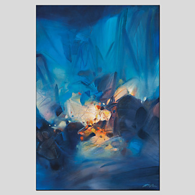Oil Paintings Modern Abstract , Canvas Material with Stretched Frame Ready To Hang SIZE:60*90CM.