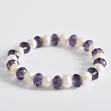 abordables Bracelet-Femme Perle dames Grappe Classique Bracelet Bijoux pour Mariage Soirée Occasion spéciale Anniversaire Fiançailles Cadeau