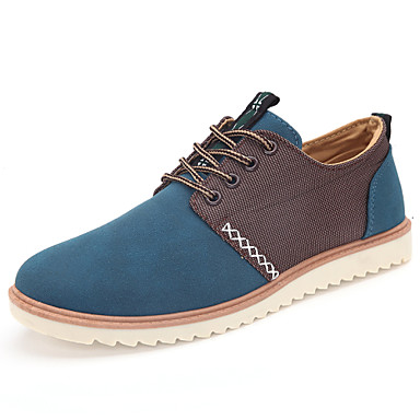 Hot Sale Men's Shoes Office & Career / Athletic / Casual Oxfords Black / Blue / Yellow / Gray