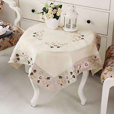 100% Cotton Square Table Cloth Table Decorations 1 pcs