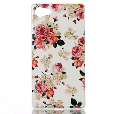 Flower Pattern TPU Phone Case for Xperia Z5 Compact/Z5mini Cases / Covers for Sony