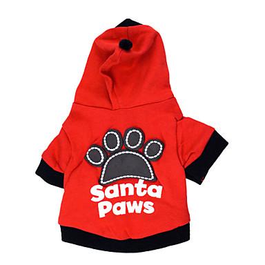 חתול כלב קפוצ'ונים בגדים לכלבים מכתב ומספר שחור אדום כותנה תחפושות עבור חיות מחמד בגדי ריקוד גברים בגדי ריקוד נשים אופנתי