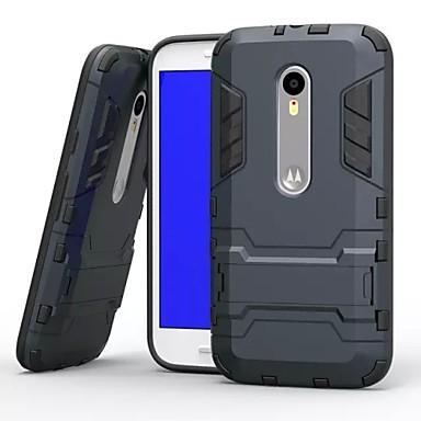 Case Kompatibilitás Motorola Motorola tok Ütésálló Állvánnyal Fekete tok Páncél Kemény PC mert