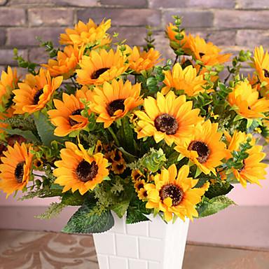 Keinotekoinen Flowers 1 haara Pastoraali Tyyli Auringonkukat Pöytäkukka
