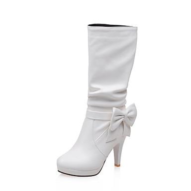 Kadın's Ayakkabı Yapay Deri Kış Sonbahar Stiletto Topuk 4