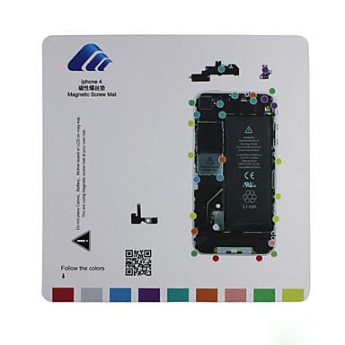 iphone 4 için manyetik vida mat teknisyen onarım ped kılavuzu