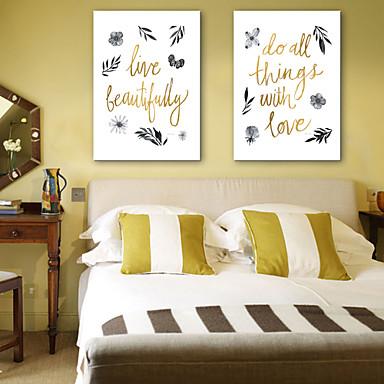 Palavras e Citações Impressão em tela Dois Painéis Pronto para pendurar , Vertical