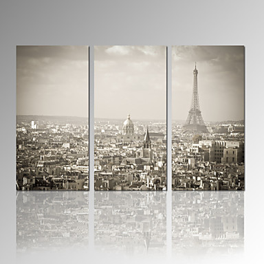 VISUAL STAR®Paris Tower Stretched Canvas Print Home Decor Wall Art Set of 3 Ready to Hang