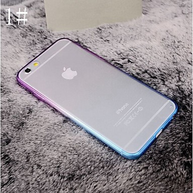 Case For Apple iPhone 8 iPhone 8 Plus iPhone 6 iPhone 6 Plus iPhone 7 Plus iPhone 7 Plating Transparent Back Cover Solid Colored Soft TPU
