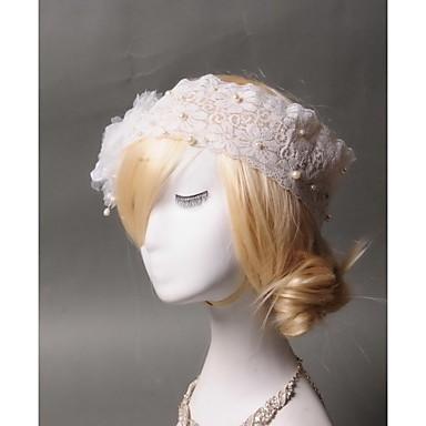 tüll utánzat gyöngy csipke headbands headpiece klasszikus női stílus