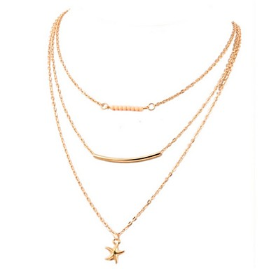 Women's Layered Necklace - Fashion Gold Necklace For Daily