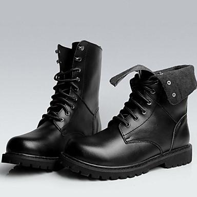 Naiset Cowboy / bootsit Nahka Kevät Kesä Syksy Talvi Kausaliteetti Work & Safety Cowboy / bootsit Solmittavat Leveä korko Musta 1-1,75in