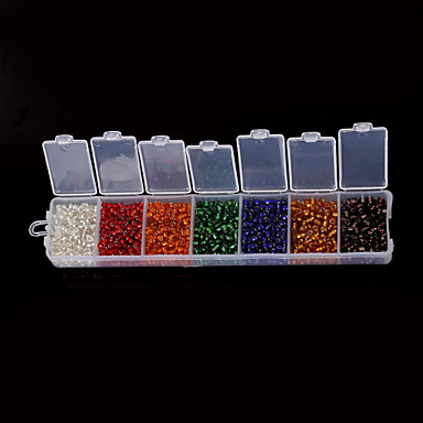 DIY Jewelry 1 Box/82g pcs 3 4 Round Shape Glass Bead cm DIY Bracelet Necklace