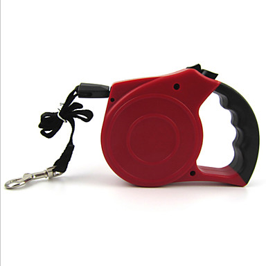 Cat Dog Leash Adjustable / Retractable Automatic Rubber Nylon Black Red Green Blue Pink