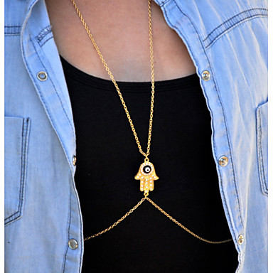 European Style  Fashion Alloy Sexy Drill Hand Body Chain