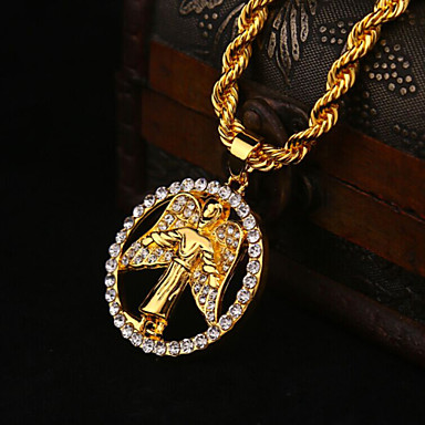 Delicacy Angle Set Drill High Polished Shape Pendant Necklace