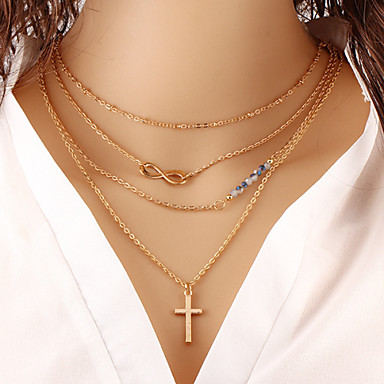 Women's Infinity Shape Fashion Layered Necklace Layered Necklace Special Occasion Birthday Gift