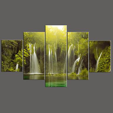 Botanik Kanvas Beş Panelli Hang Hazır , Yatay